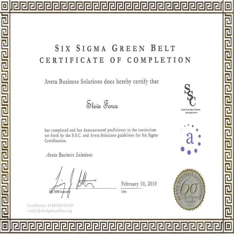 Free Certification Free Lean Six Sigma Certification